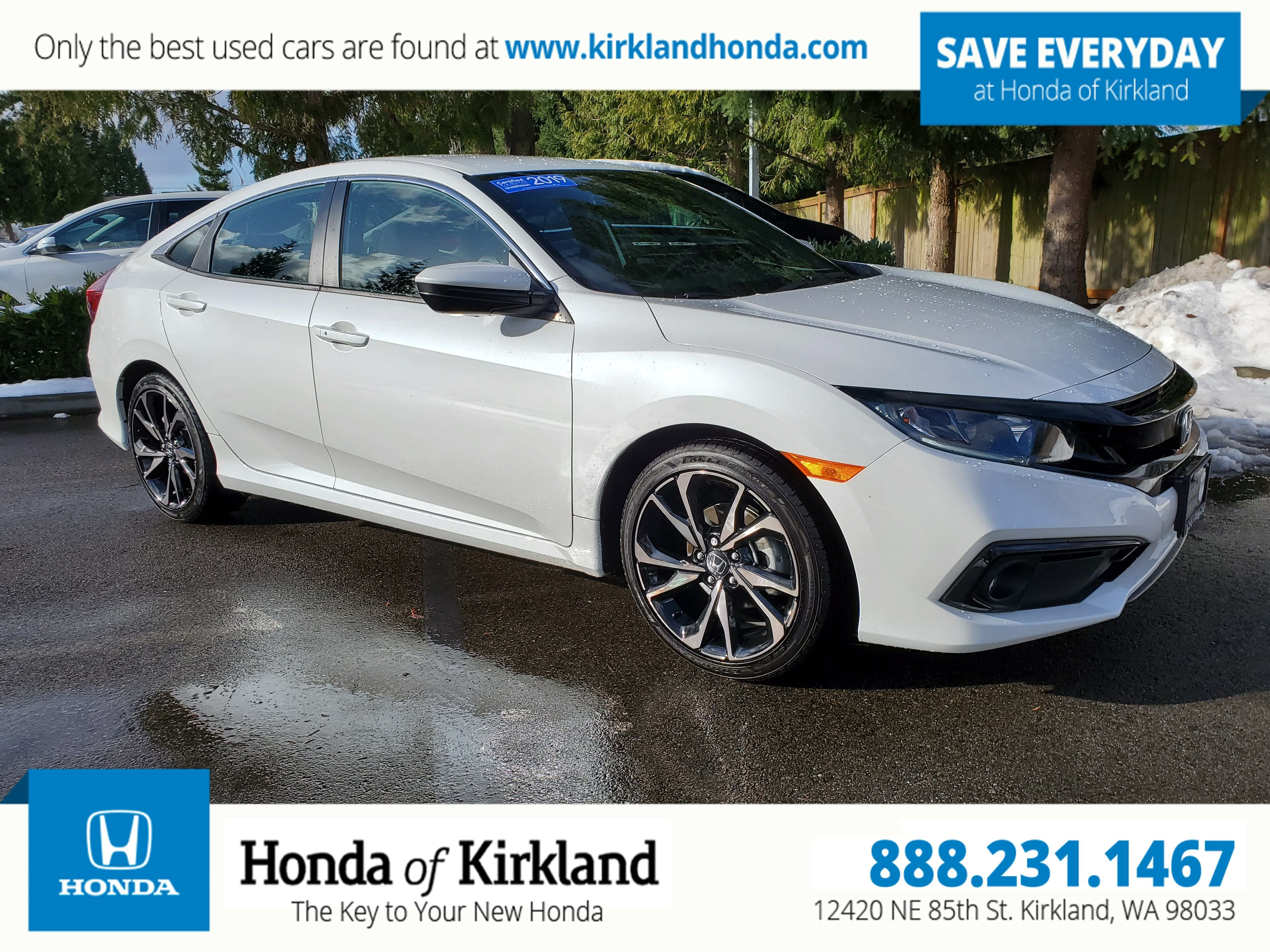 Honda Civic Certified Pre Owned >> Certified Pre Owned 2019 Honda Civic Sedan Sport Fwd 4dr Car