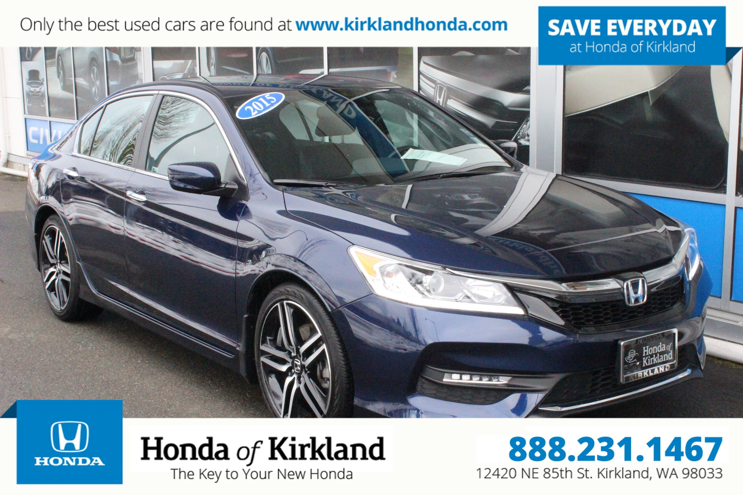Pre Owned 2016 Honda Accord Sedan Sport 4dr Car In Kirkland 186300a Of