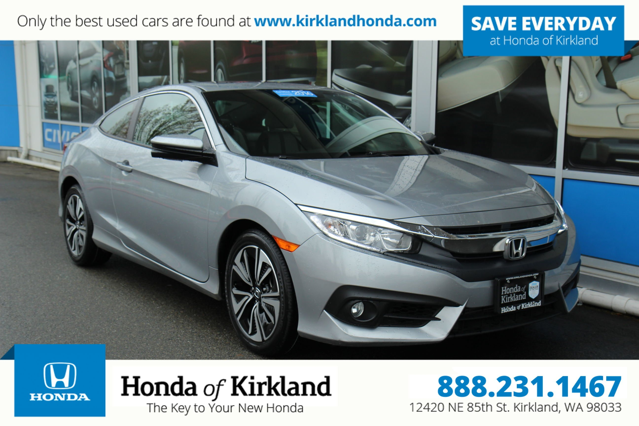 Certified Pre-Owned 2016 Honda Civic Coupe EX-T