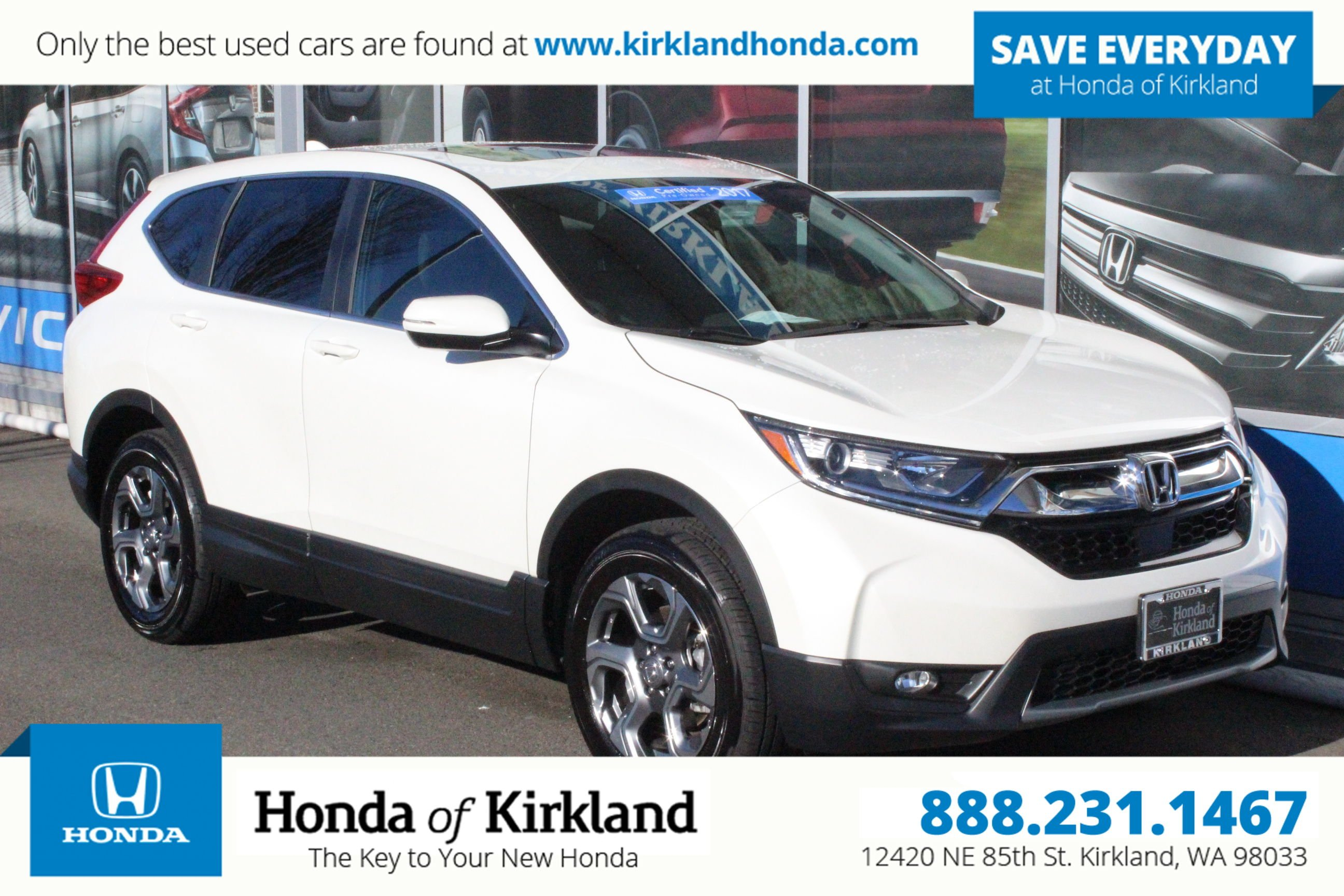 Certified Pre-Owned 2017 Honda CR-V EX AWD