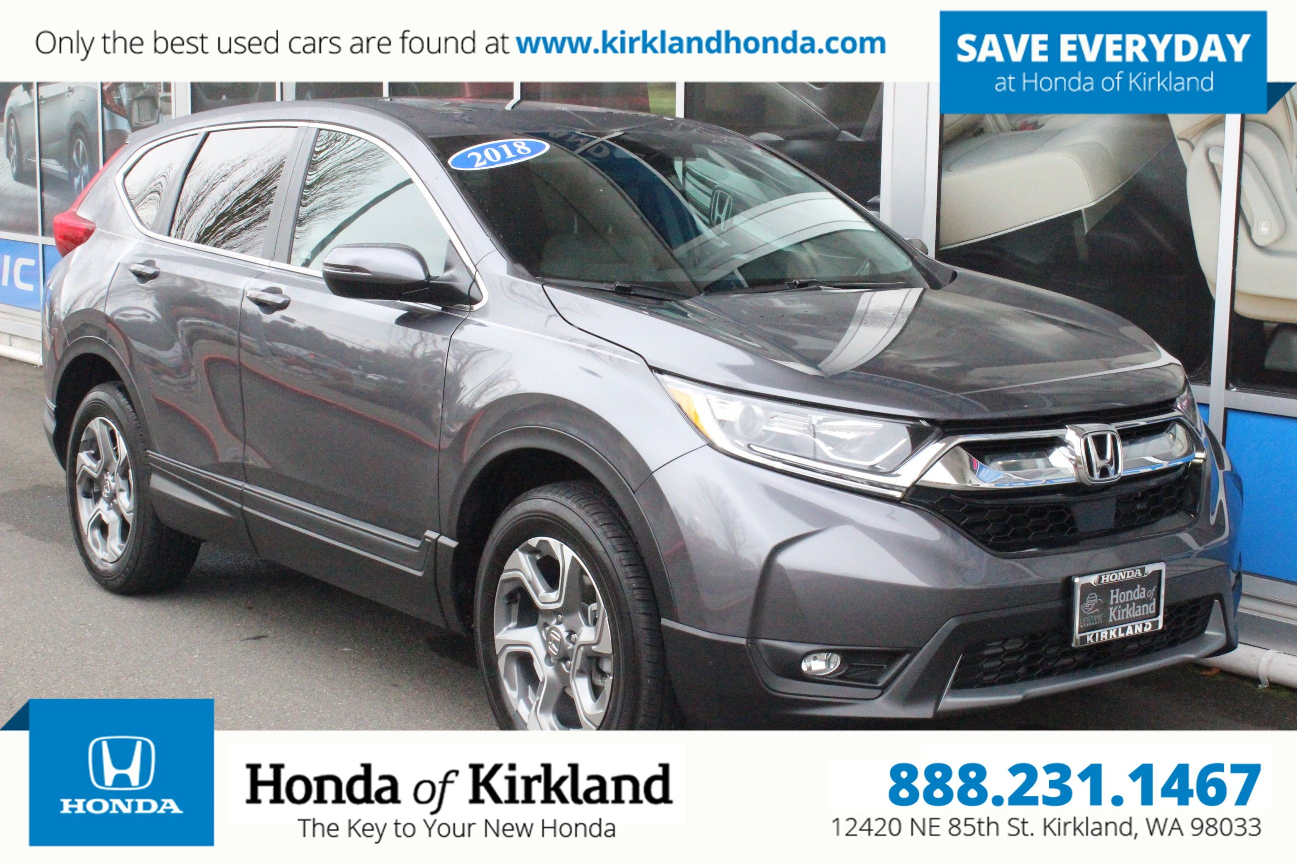Certified Pre-Owned 2018 Honda CR-V EX-L AWD