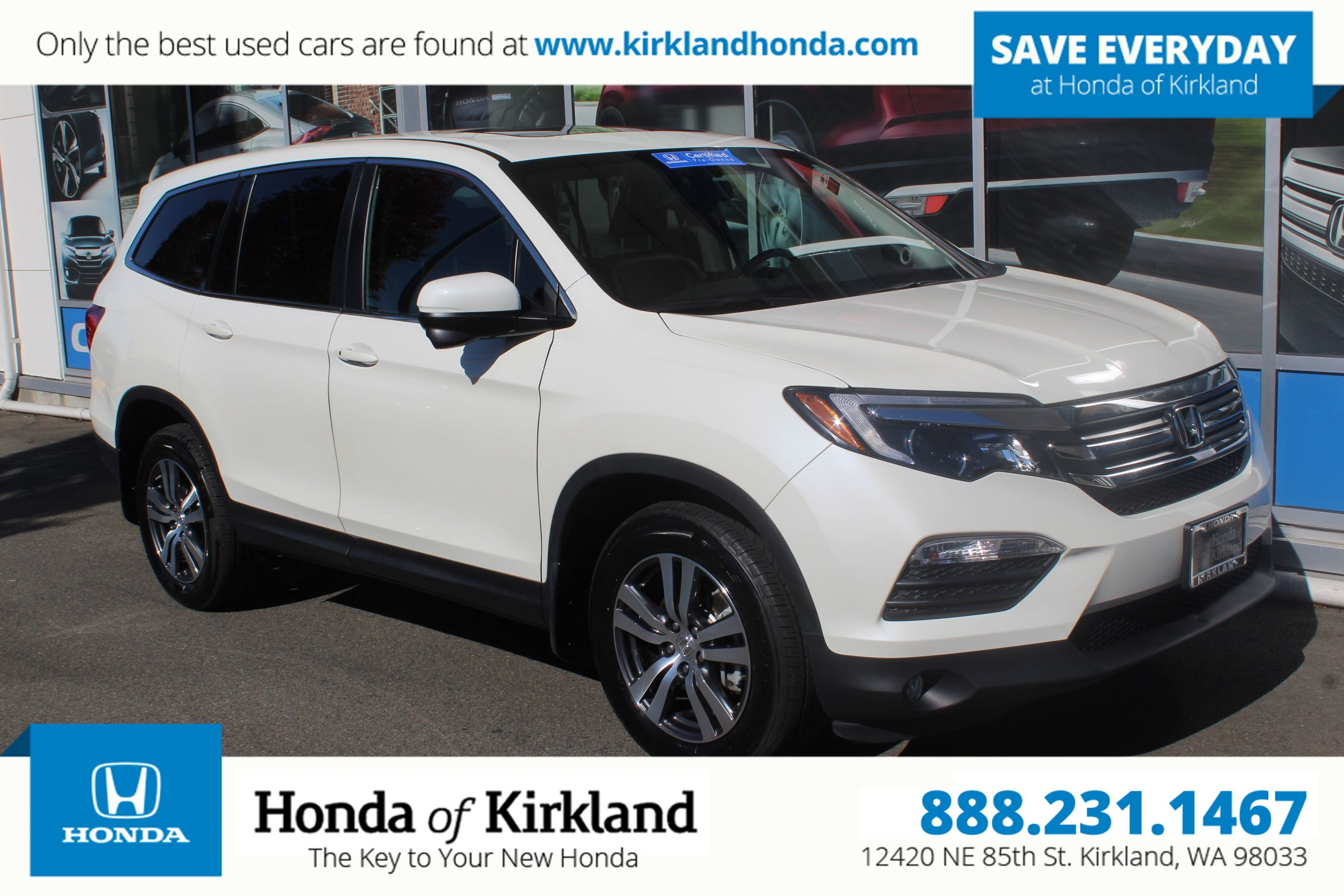 Certified Pre Owned 2017 Honda Pilot Ex L Awd Sport Utility In