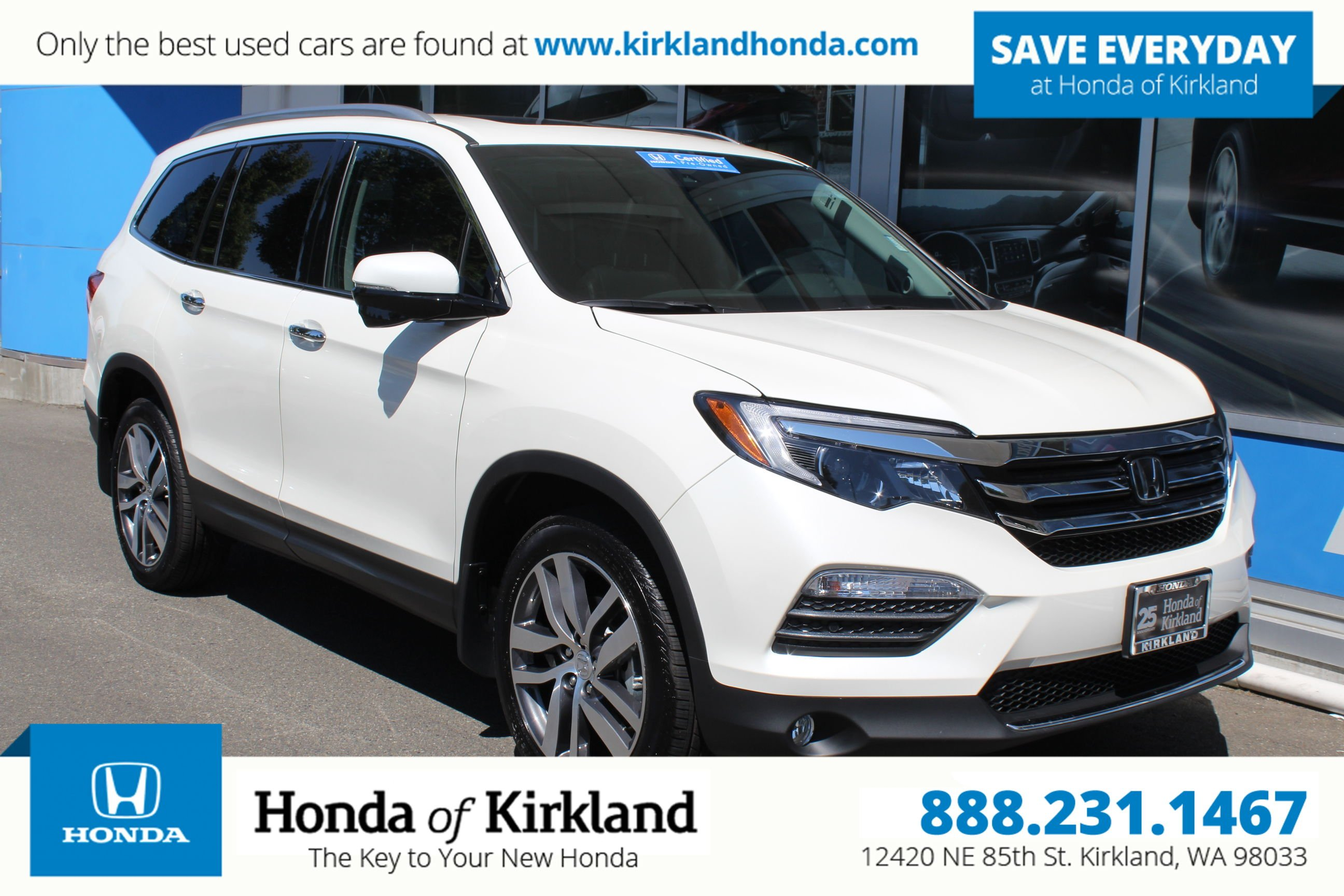 Certified Pre Owned 2017 Honda Pilot Touring AWD