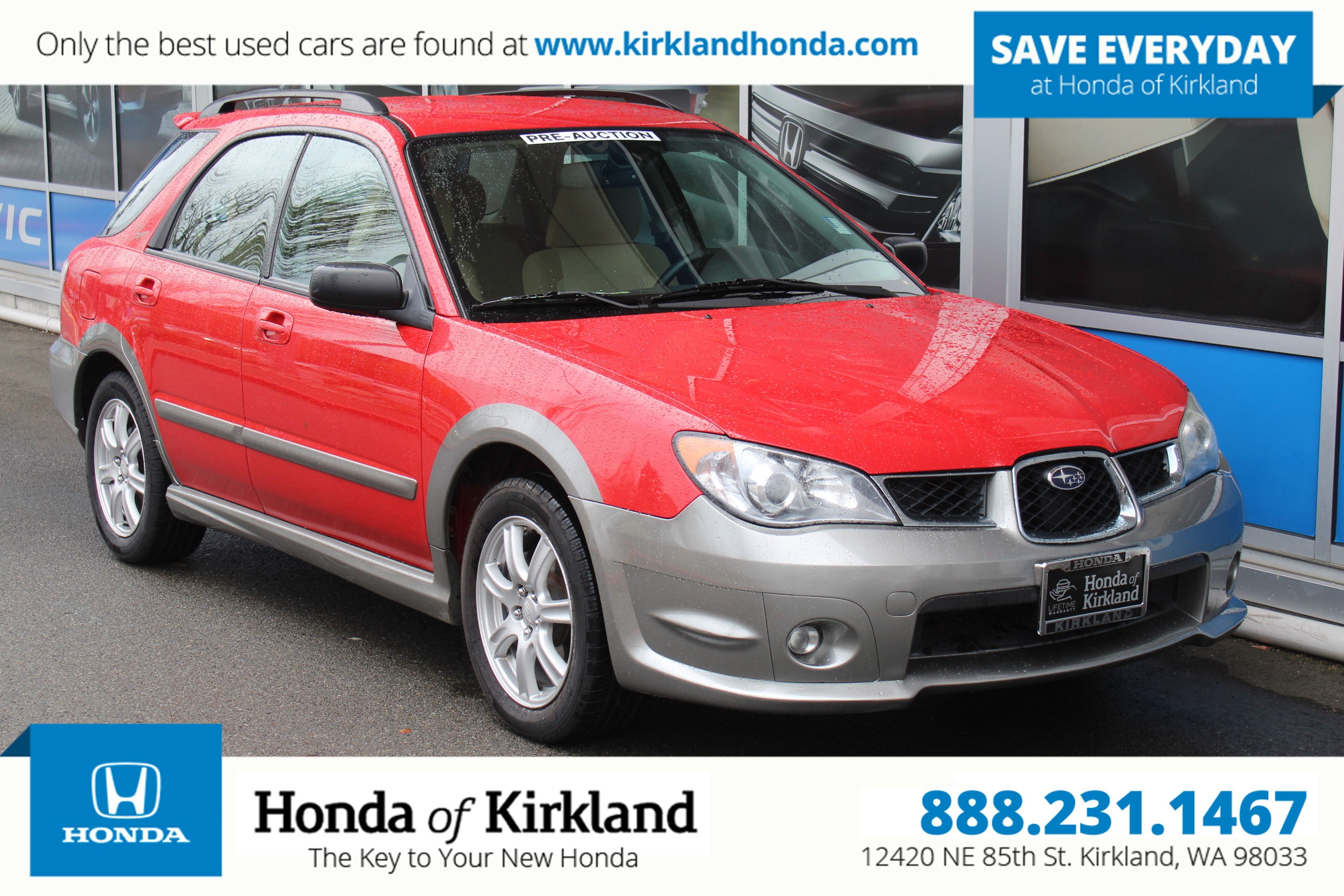 Pre Owned 2006 Subaru Impreza Wagon Outback Sport Sp Edition Station