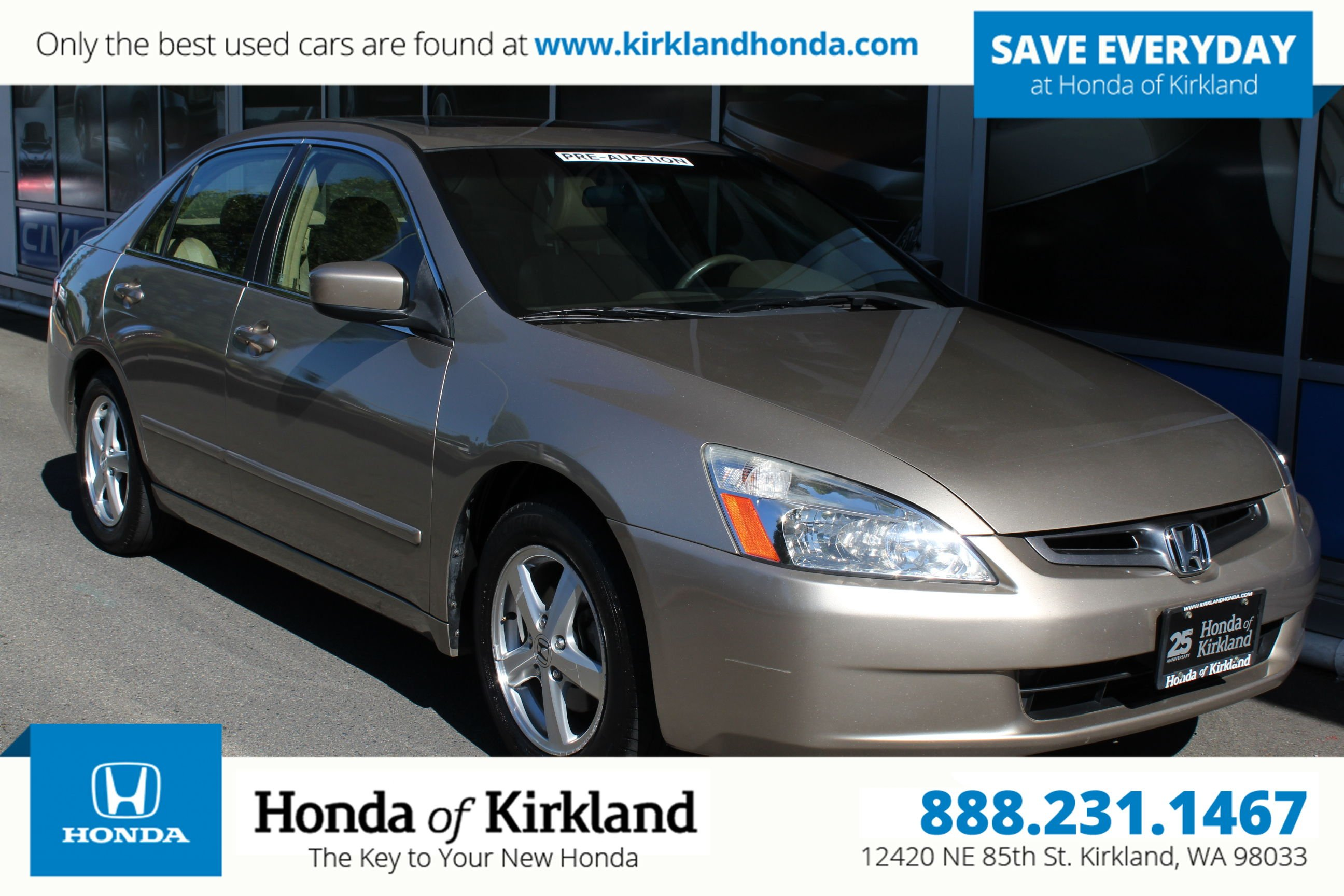Pre Owned 2004 Honda Accord Sedan EX w Leather 4dr Car in Kirkland