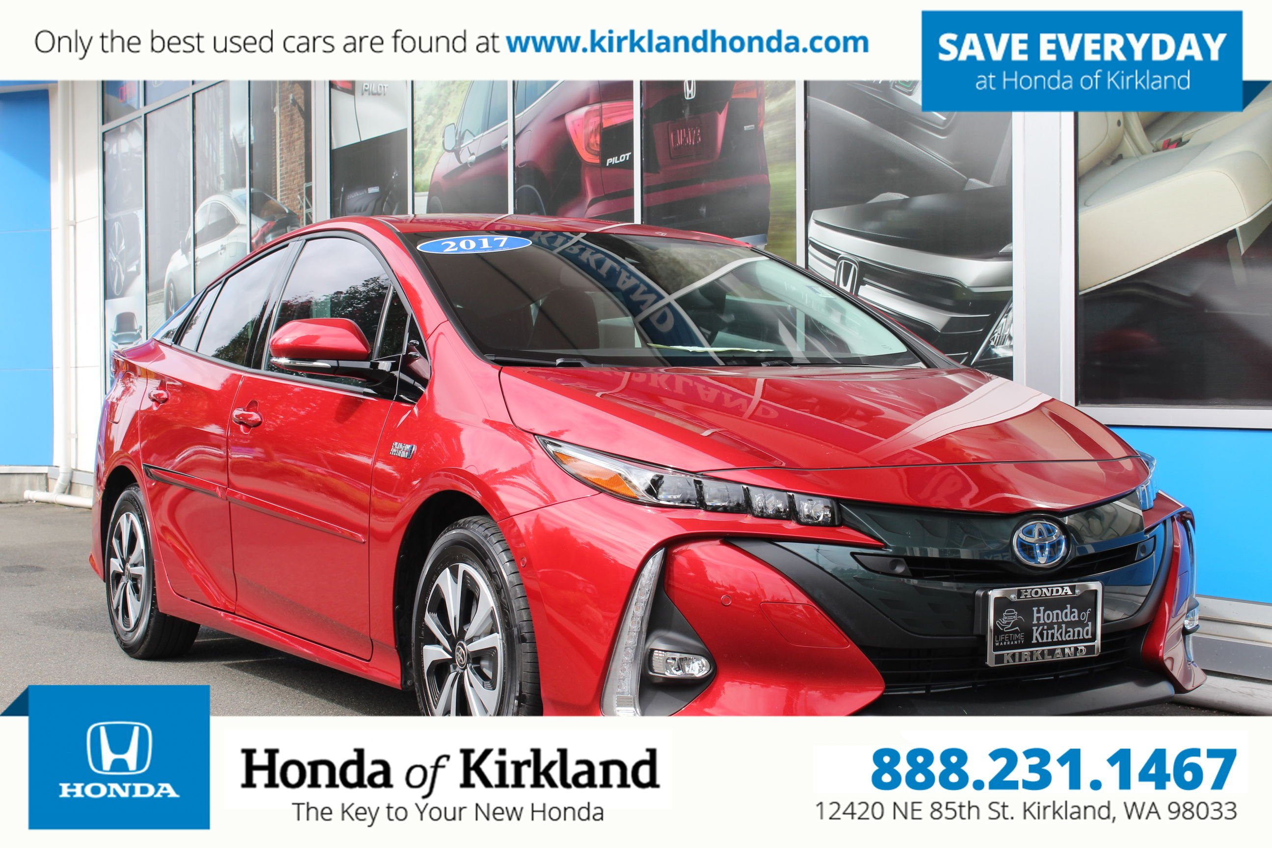 Pre Owned 2017 Toyota Prius Prime Advanced Hatchback In Kirkland